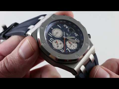 "Audemars Piguet Royal Oak Offshore Chronograph ""Navy"" 26470ST.OO.A027CA.01 Luxury Watch Review"