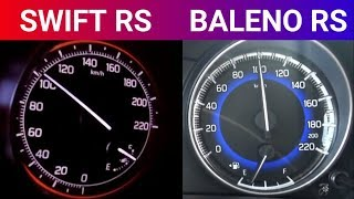 2018 SWIFT RS vs Baleno RS 0-100 Speed test Video