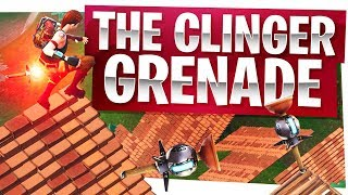 New Fortnite Clinger Grenade! - Aka Sticky Grenade Gameplay