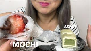 MOCHI Cakes & Strawberry Daifuku  ASMR Sticky Eating Sounds   N.E Lets Eat