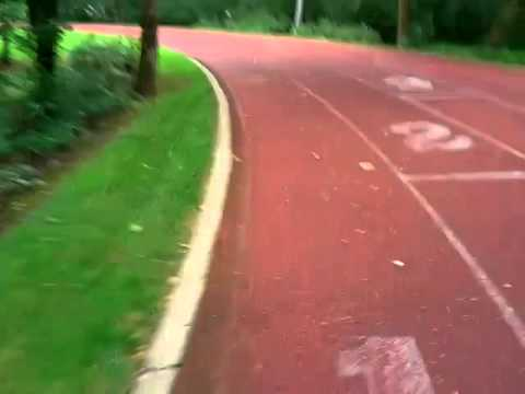 Nike - one lap on the Michael Johnson Track