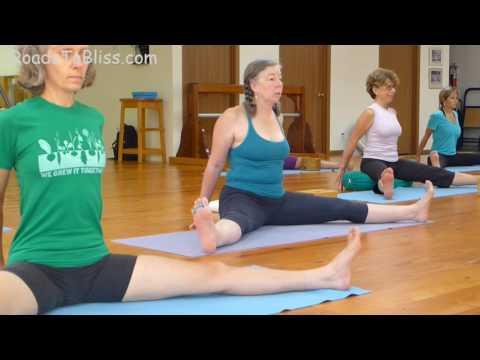 Upavista Konasana & Baddha Konasana   with Lois Steinberg, Certified Iyengar Yoga Teacher Advanced 2