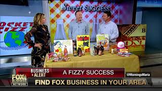 Rocket Fizz founders featured on Fox Business News with Maria Bartiromo