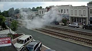 Car fire in Ashland, VA.