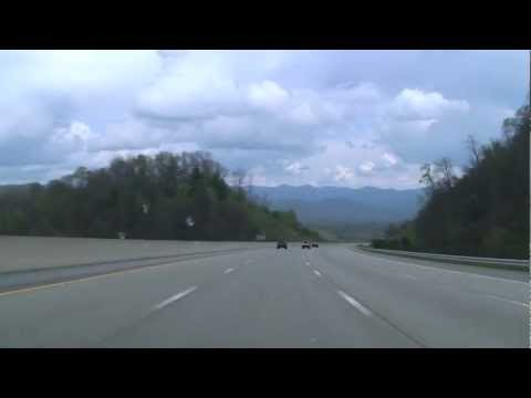 I-26 Through the mountains at the Tennessee-North Carolina Border