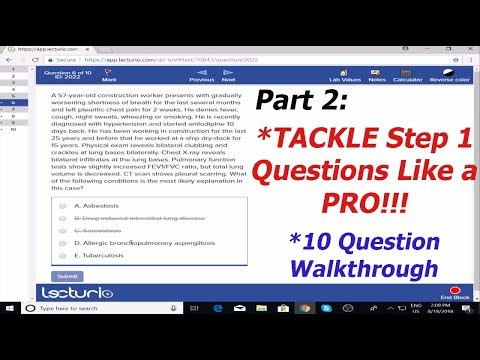USMLE Step 1 Questions - How to Answer (Like a PRO!) 2018 [THOUGHT PROCESS]  (PART 2)