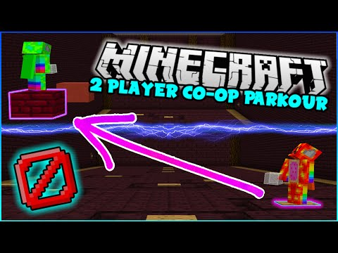 Minecraft | CONTROL YOUR PARTNER'S JUMPS! - Interactive Parkour Two Player Challenge