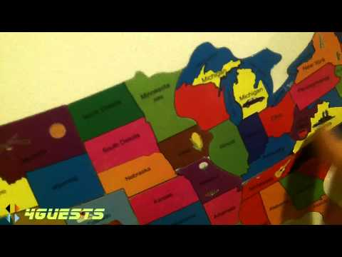 Magnetic USA Puzzle Map / 50 States