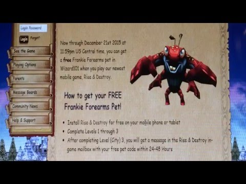 Over) How To Get A Free Pet On Wizard 101 - YT