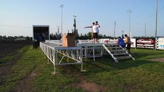 Benton County CountryFest stage going up
