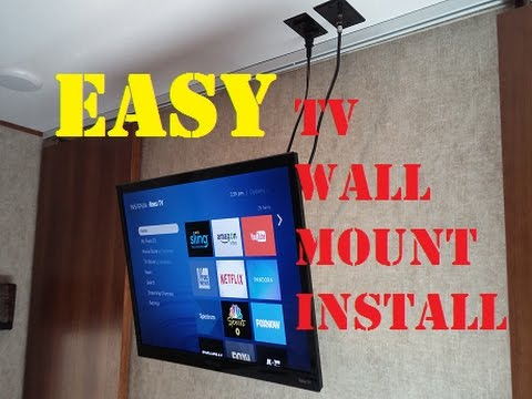 Installing A Tv Wall Mount In The Rv Youtube