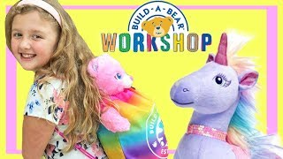 A Fun Trip to Build a Bear Workshop for Early Birthday Presents ! Ava's 9th Birthday !