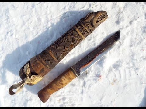 Саамский нож леуку или большой русский нож. Северный тесак