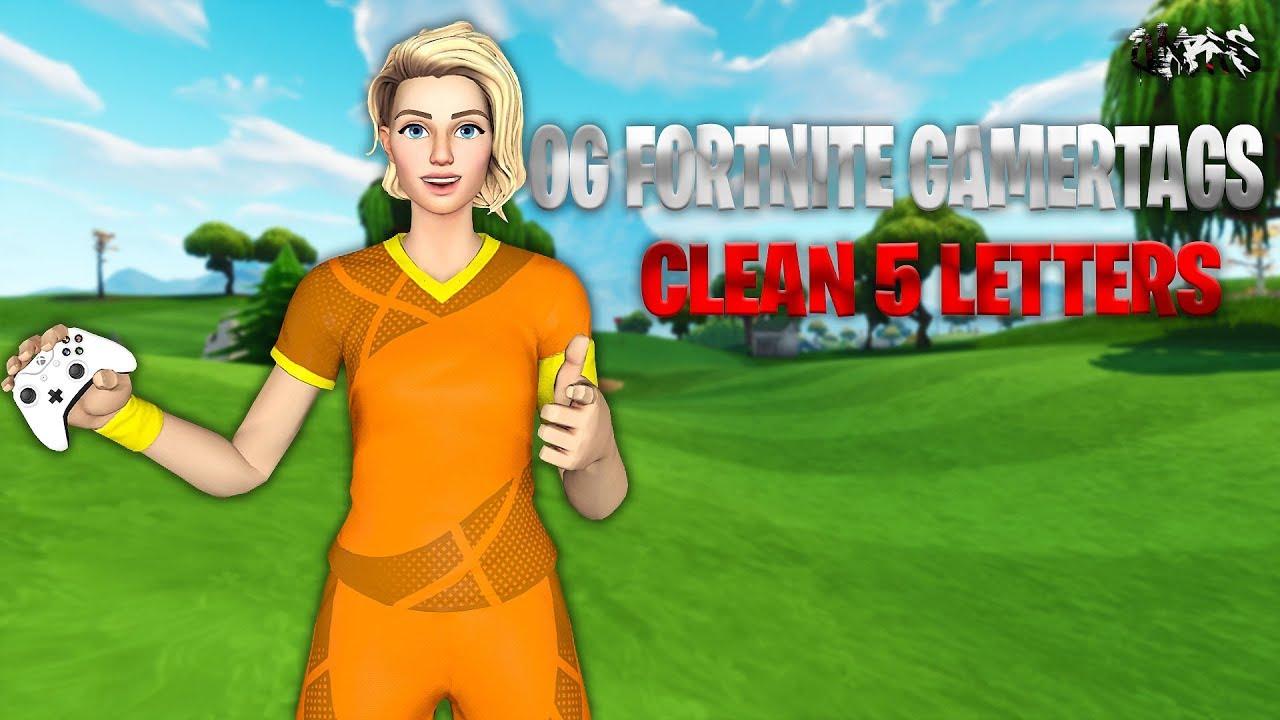 OG CLEAN 5 LETTER SWEATY GAMERTAGS | Fortnite Gamertags |