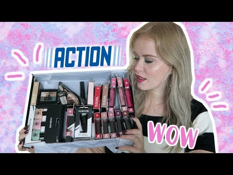 DOOS VOL NIEUWE ACTION MAKE-UP TESTEN | REBECCA DENISE
