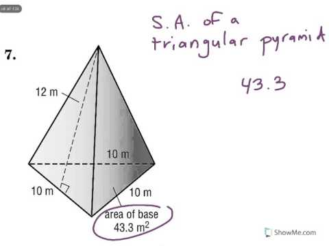 Surface Area Of A Triangular Pyramid Youtube