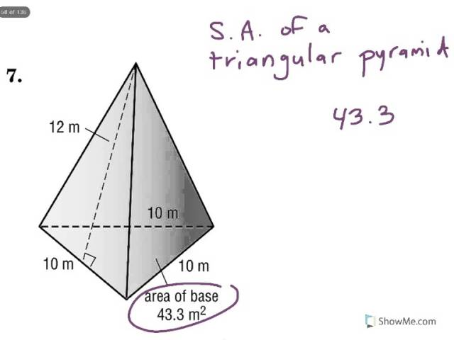 Geometry 11 3 Surface Area Of Pyramids Cones And Spheres
