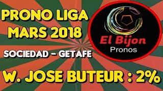 Prono Liga Sociedad Getafe mars 2018