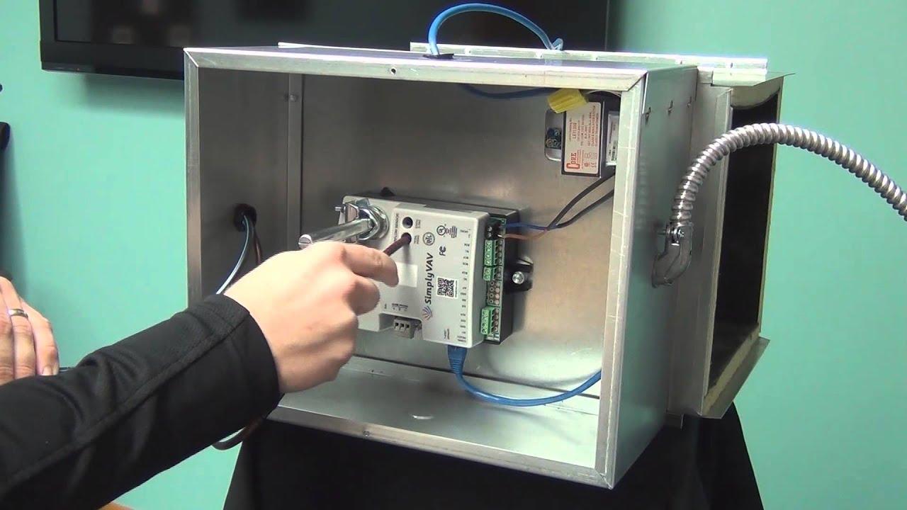 medium resolution of installing the vav controller and sensor