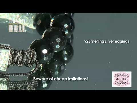 Black Onyx And Czech Crystal Bar Bracelet