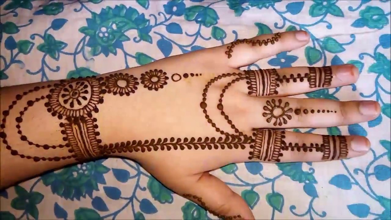 arabic instagram mehndi design back side