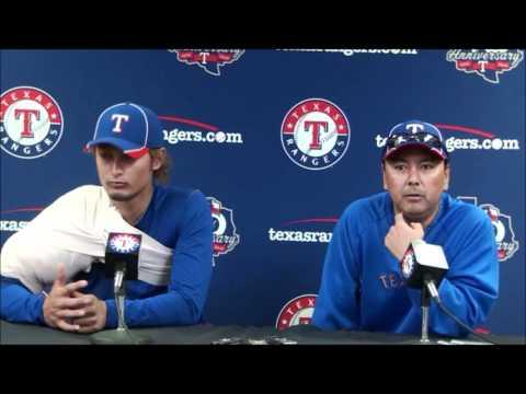 Yu Darvish Debut Versus the Padres & Postgame Press Conference