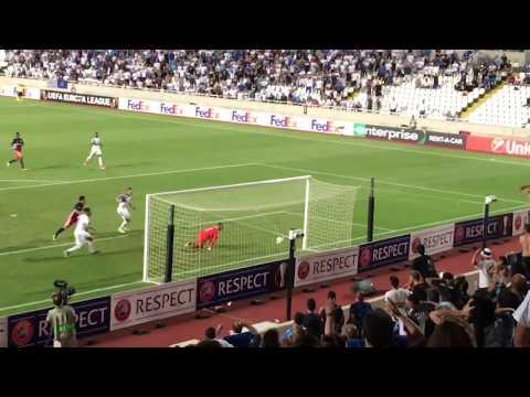 Apollon  Limassol vs Lyon equalization Goal