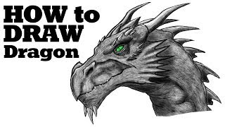 How to draw a Dragon,Como dibujar un Dragon,Как нарисовать дракона
