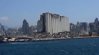 Vistas del puerto de Beirut desde una embarcación