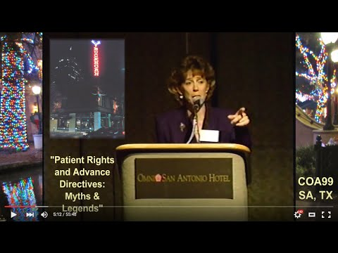 COA99: Aging Conference | Patient Rights @ EOL (1999)