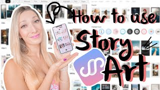 HOW TO USE STORY ART   Complete tutorial and walkthrough + create aesthetic Instagram stories screenshot 4