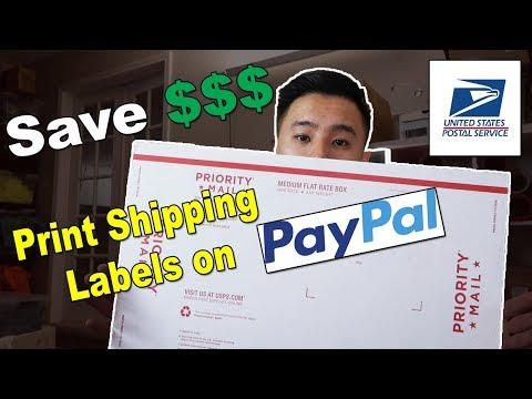 How to ship USPS on Paypal!! Save Money on Shipping Now From Home!