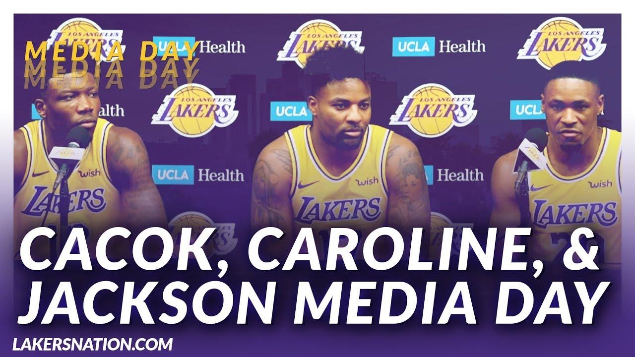 Lakers Media Day: Devonte Cacok, Jordan