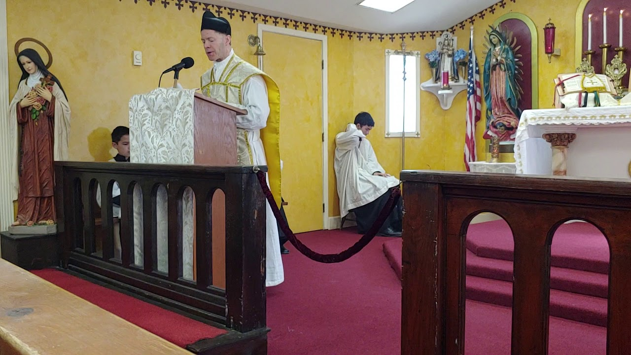 Sermon Father Poisson Feast Day of St. Thomas Aquinas March 7, 2020