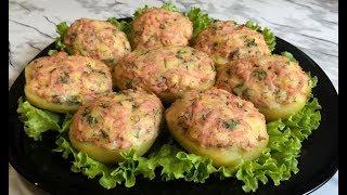 Запеченный Фаршированный Картофель / Картошка в Духовке / Картофельные Лодочки / Stuffed Potato