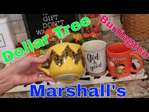 Dollar Tree New Haul - Fall Stuff, Burlington and Marshall's Mugs - New Items