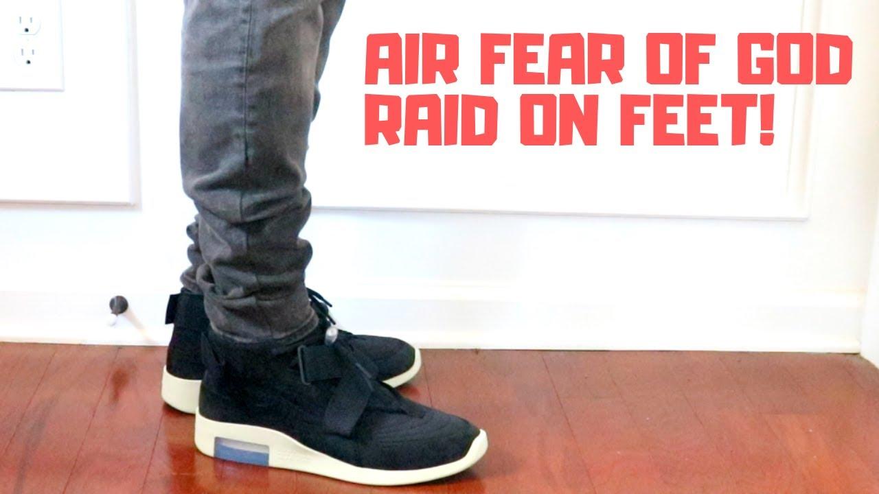 NIKE AIR FEAR OF GOD RAID (BLACK) ON