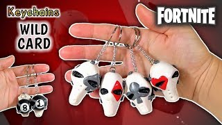 WILD CARDS | KEYCHAINS | FORTNITE | Polymer Clay Tutorial