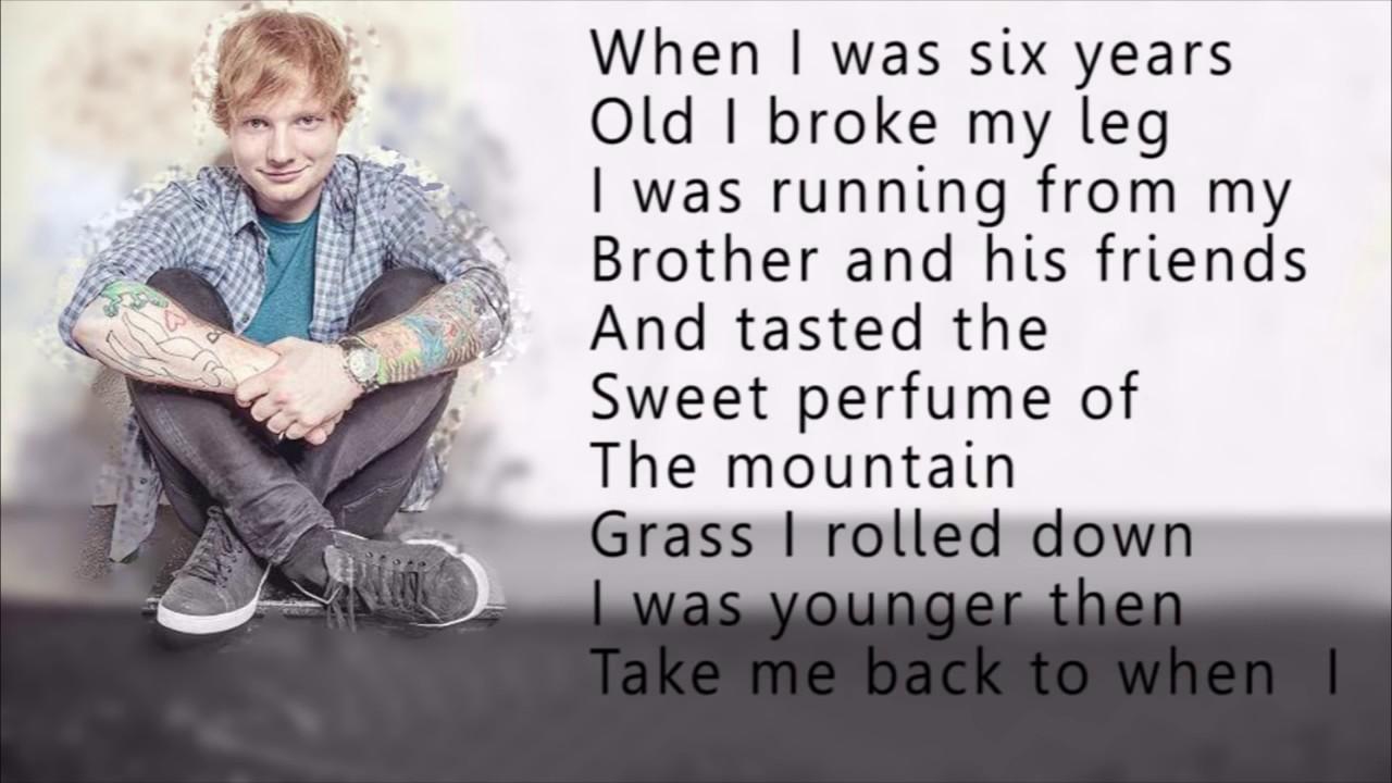 Ed Sheeran Castle On The Hill Lyrics Letra Youtube