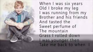 Ed Sheeran - Castle on the hill (lyrics) (letra)