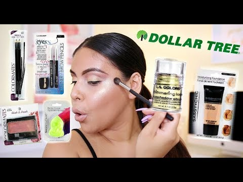 FULL FACE OF DOLLAR TREE MAKEUP: DOLLAR TREE MAKEUP CHALLENGE | JuicyJas