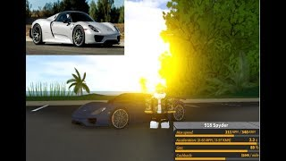 Review of the NEW Porsche 918 Spyder in Ultimate Driving Roblox!