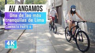 Walking along Av Angamos, Miraflores Lima Peru 2021 4k part 4