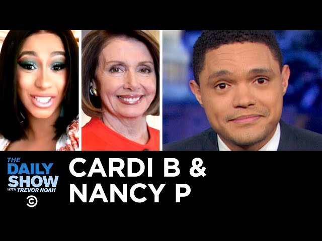 Cardi B & Nancy P Take On Trump & Unpaid Workers Crowdfund | The Daily Show