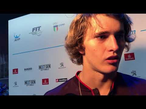 Alexander Zverev interview in Milan