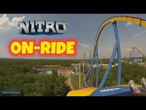 Nitro On-ride Front Seat (HD POV) Six Flags Great Adventure
