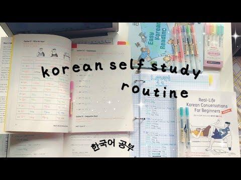 my korean self study routine