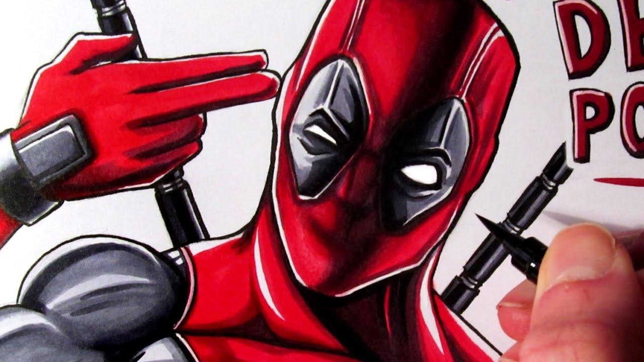 Letu0027s Draw Deadpool   YouTube