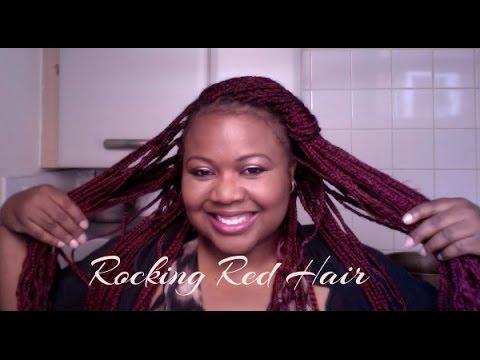 Rocking Red Hair Braids Youtube