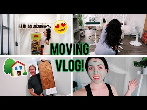MOVING VLOG #3! Walk-in Closet Makeover, Reupholstering Chairs, Flea Market Haul, Parents visit!